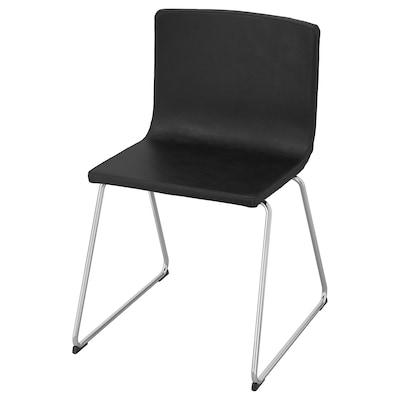 BERNHARD chair chrome-plated/Mjuk dark brown 110 kg 49 cm 50 cm 77 cm 45 cm 40 cm 48 cm