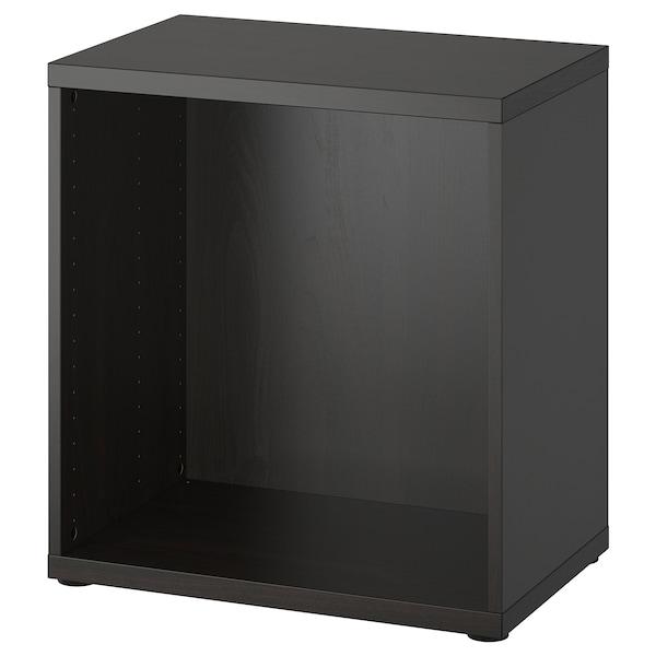 BESTÅ Frame, black-brown, 60x40x64 cm