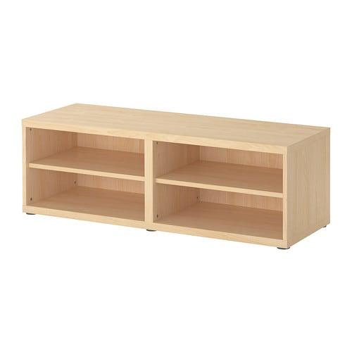 Best shelf unit height extension unit birch effect ikea for Tall tv stand ikea