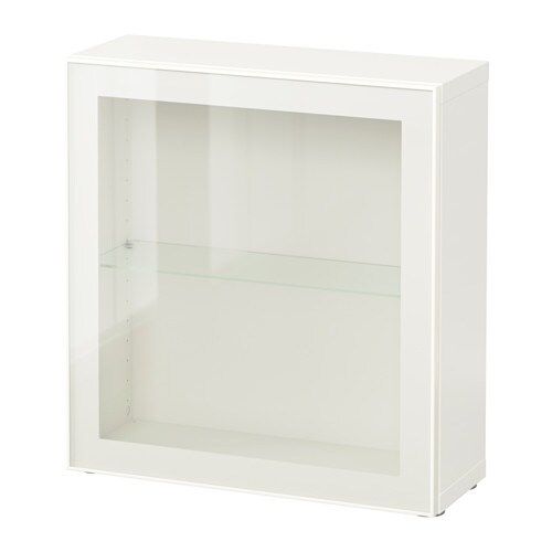 best shelf unit with glass door white glassvik white clear glass ikea. Black Bedroom Furniture Sets. Home Design Ideas