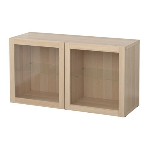 best shelf unit with glass doors sindvik white stained oak effect ikea. Black Bedroom Furniture Sets. Home Design Ideas