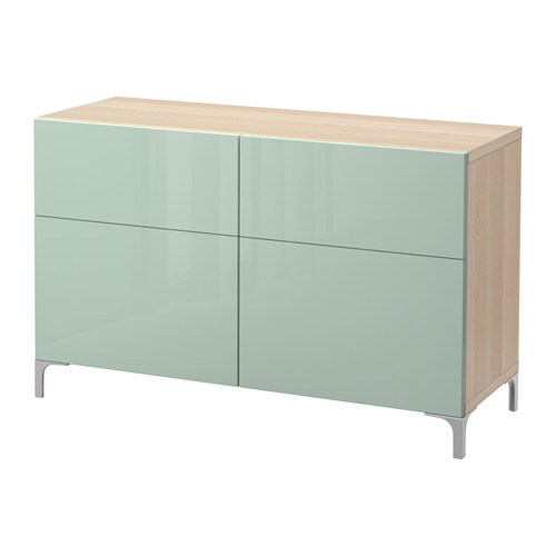 Best 197 Storage Combination W Doors Drawers White Stained