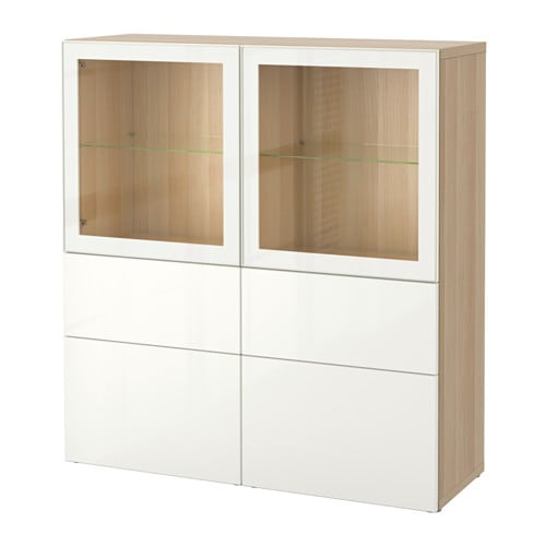 Best 197 Storage Combination W Glass Doors Ikea