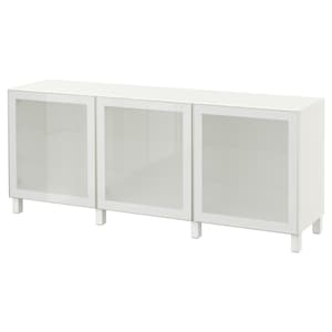 Colour: White/glassvik white frosted glass.