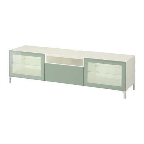 Best 197 Tv Bench White Selsviken High Gloss Light Grey