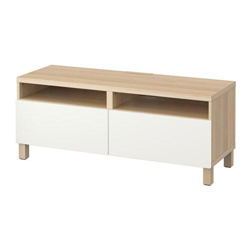 Best Tv Bench With Drawers White Stained Oak Effect Lappviken White Drawer Runner Soft