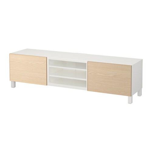 Best 197 Tv Bench With Drawers White Inviken Ash Veneer