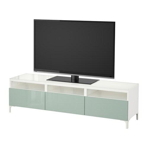 Best 197 Tv Bench With Drawers White Selsviken High Gloss
