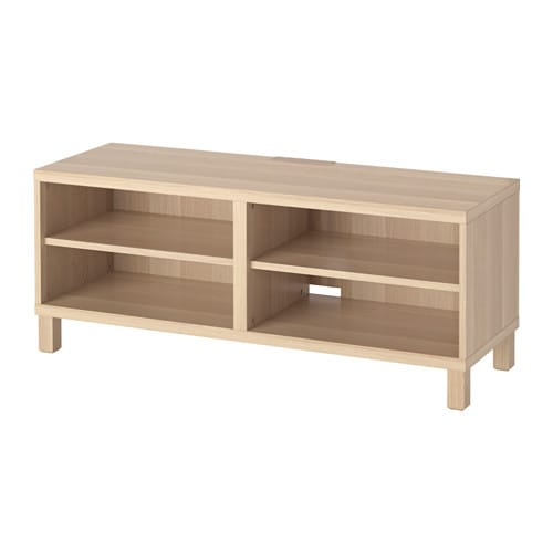 best tv bench white stained oak effect ikea. Black Bedroom Furniture Sets. Home Design Ideas