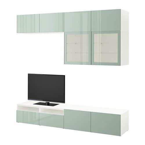 BEST TV storage combination/glass doors
