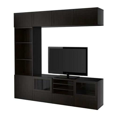 Best tv storage combination glass doors hanviken - Mueble televisor ikea ...