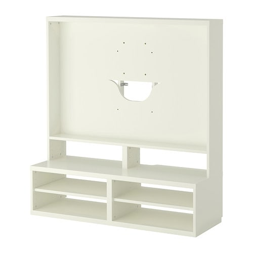 Best tv storage unit white ikea for Meuble mural ikea