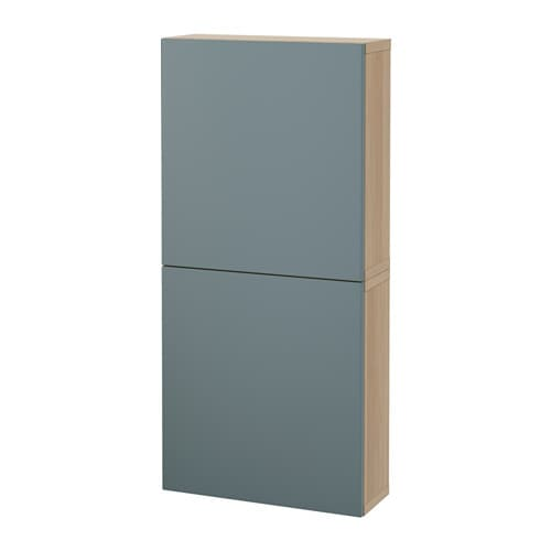 best 197 wall cabinet with 2 doors white stained oak effect