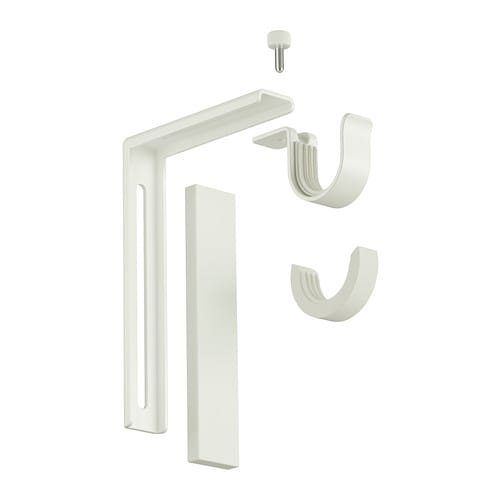 BETYDLIG Wall/ceiling bracket IKEA Curtain rod holder position can be adjusted, allowing curtains to be hung either close to the window or farther out.
