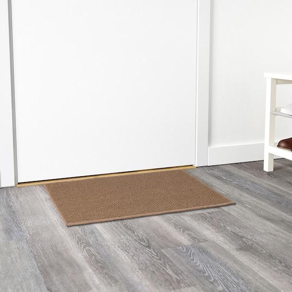 BIERSTED Door mat, in/outdoor natural, 50x80 cm