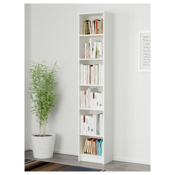 BILLY Bookcase, white, 40x28x202 cm
