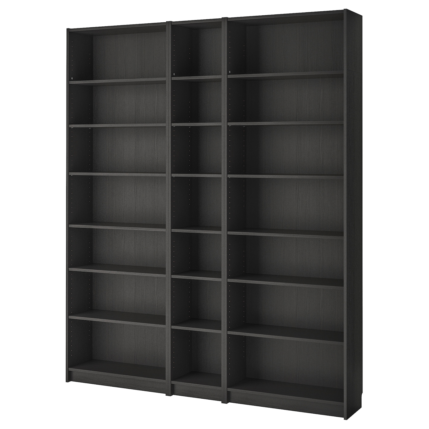 Libreria A Porta Di Roma billy bookcase - black-brown 200x28x237 cm