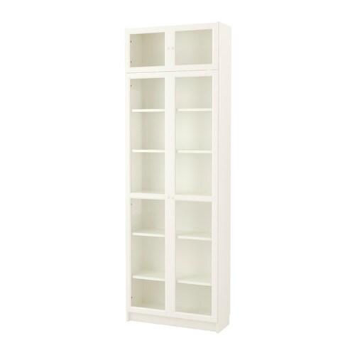 BILLY / OXBERG Bookcase, White Width: 80 Cm Depth: 30 Cm ...