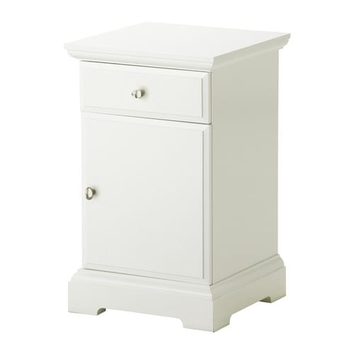 BIRKELAND Bedside table IKEA The door can be hung with the opening to the right or the left.