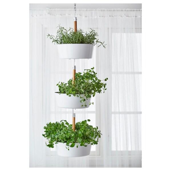 BITTERGURKA hanging planter white 37 cm 29 cm