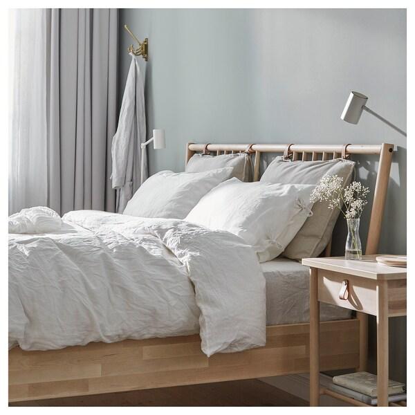 BJÖRKSNÄS Bed frame, birch, Full/Double