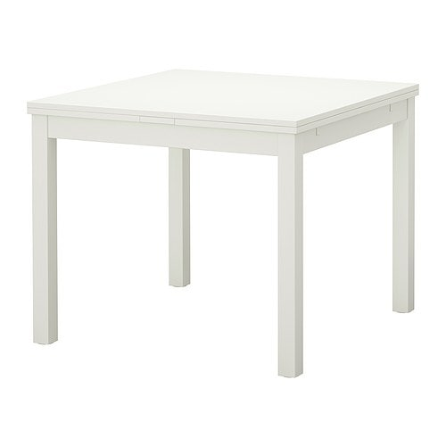 White Dining Table Ikea: BJURSTA Extendable Table