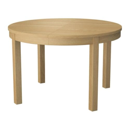 Bjursta extendable table oak veneer ikea - Ikea tables de salon ...