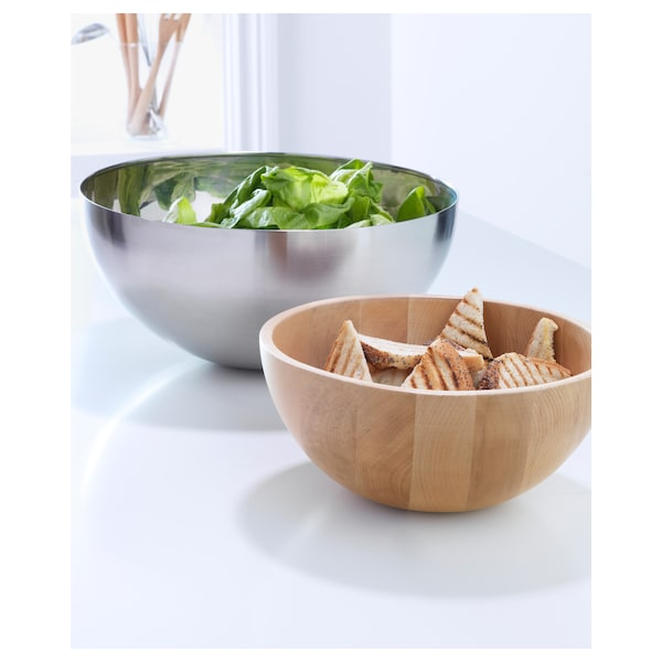 BLANDA MATT Serving bowl, bamboo, 20 cm