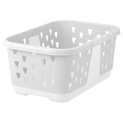 BLASKA Clothes-basket, white, 36 l