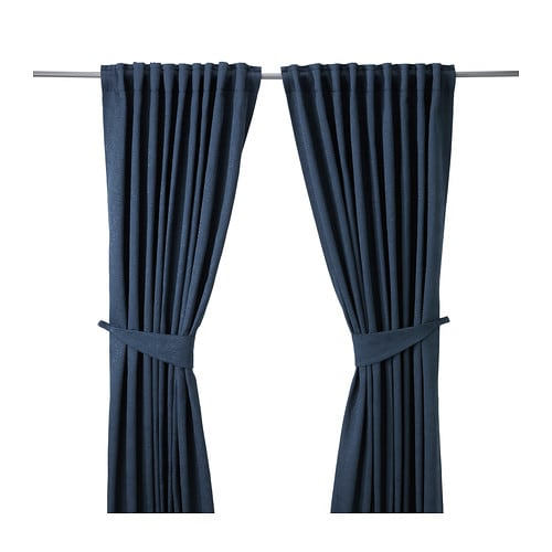 BLEKVIVA Curtains With Tie Backs 1 Pair IKEA