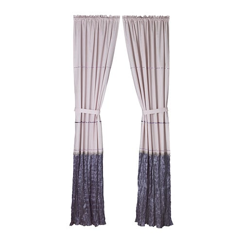 BLOMVIVEL Curtain with tie-back IKEA Tie-back with touch and close fastener which opens easily.
