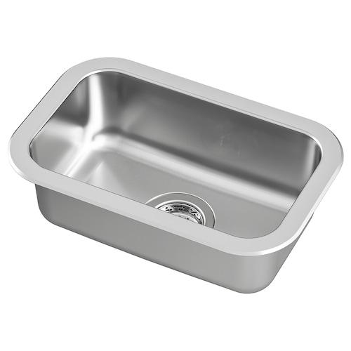 BOHOLMEN inset sink, 1 bowl stainless steel 15 cm 40 cm 23 cm 28 cm 44.6 cm 30 cm 46.6 cm 30 cm 16 cm 14.0 l
