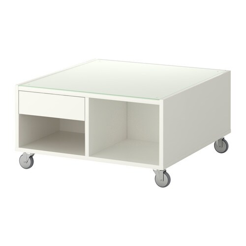 Boksel coffee table white ikea - Table basse escamotable ikea ...