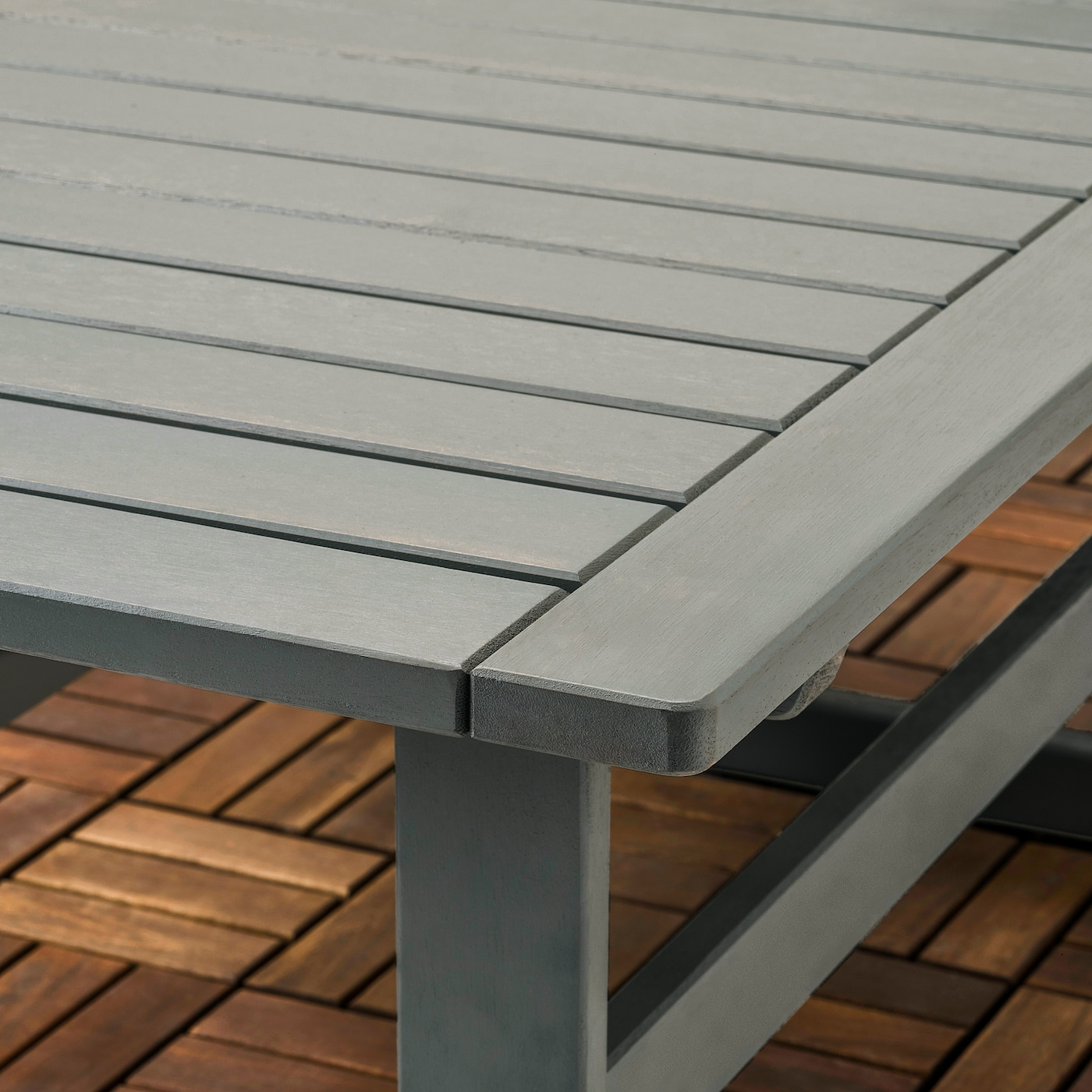 BONDHOLMEN 4-seat conversation set, outdoor grey stained/Frösön/Duvholmen beige