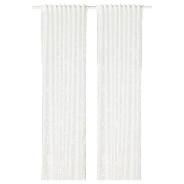 BORGHILD sheer curtains, 1 pair white 250 cm 145 cm 3.63 m² 2 pack