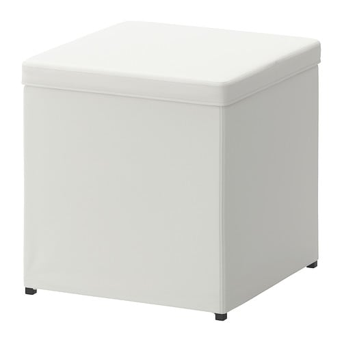 BOSNÄS Footstool with storage - Ransta white - IKEA