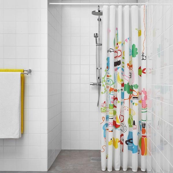 BOTAREN Shower curtain rod, white, 70-120 cm