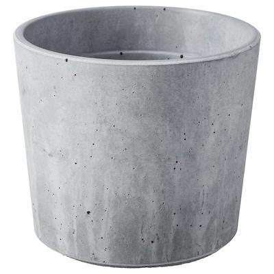 BOYSENBÄR Plant pot, in/outdoor light grey, 9 cm