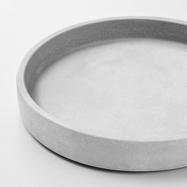 BOYSENBÄR Saucer, in/outdoor light grey, 15 cm
