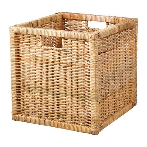 BRANÄS Basket, rattan rattan 32x34x32 cm