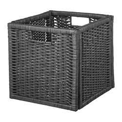 BRANÄS basket, dark grey
