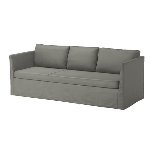BRÅTHULT 3-seat sofa, Borred grey-green Borred grey-green