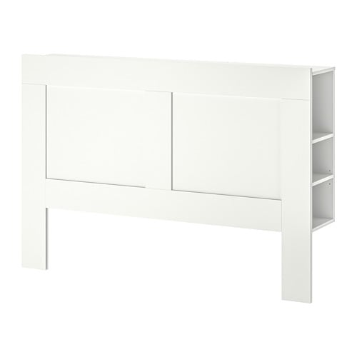 BRIMNES Headboard with storage compartment