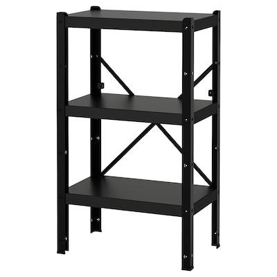 BROR 1 section/shelves, black, 65x40x110 cm
