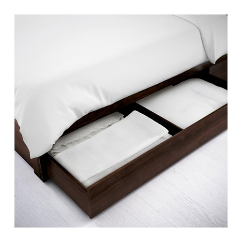 brusali bed frame with 2 storage boxes double lnset ikea - Brusali Bed Frame Review
