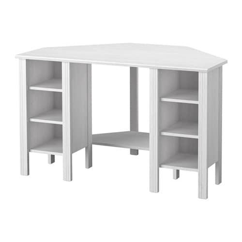 brusali corner desk white width 120 cm depth 73 cm height 73