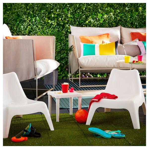BUNSÖ Children's easy chair, outdoor, white