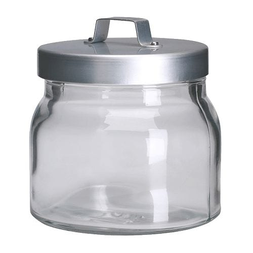 BURKEN Jar with lid IKEA Transparent; makes it easy to find what you're looking for.