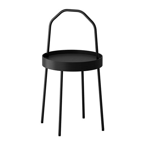 BURVIK Side table IKEA The side table is light and small enough to lift with one hand, and the handle makes it easy to carry around the home.