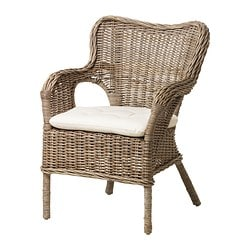BYHOLMA armchair, grey, Laila natural